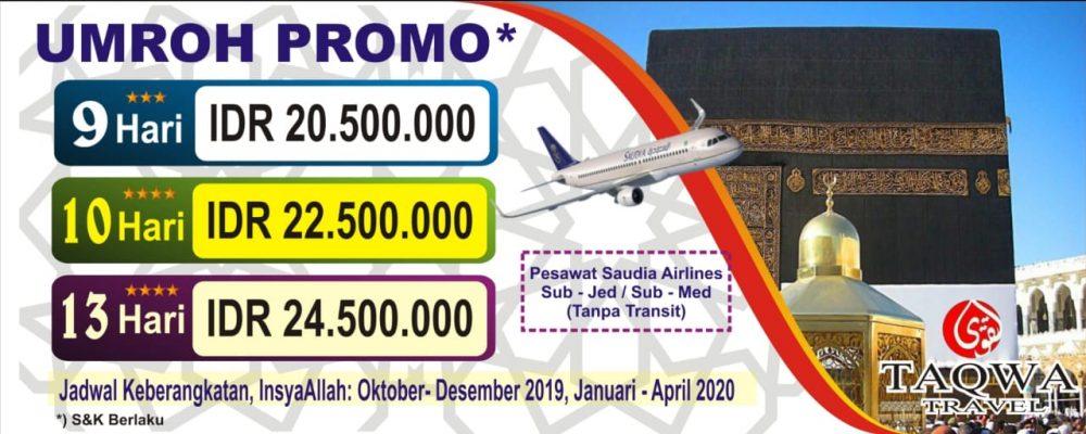 UMROH PROMO 2019-2020 TAQWA TRAVEL SURABAYA